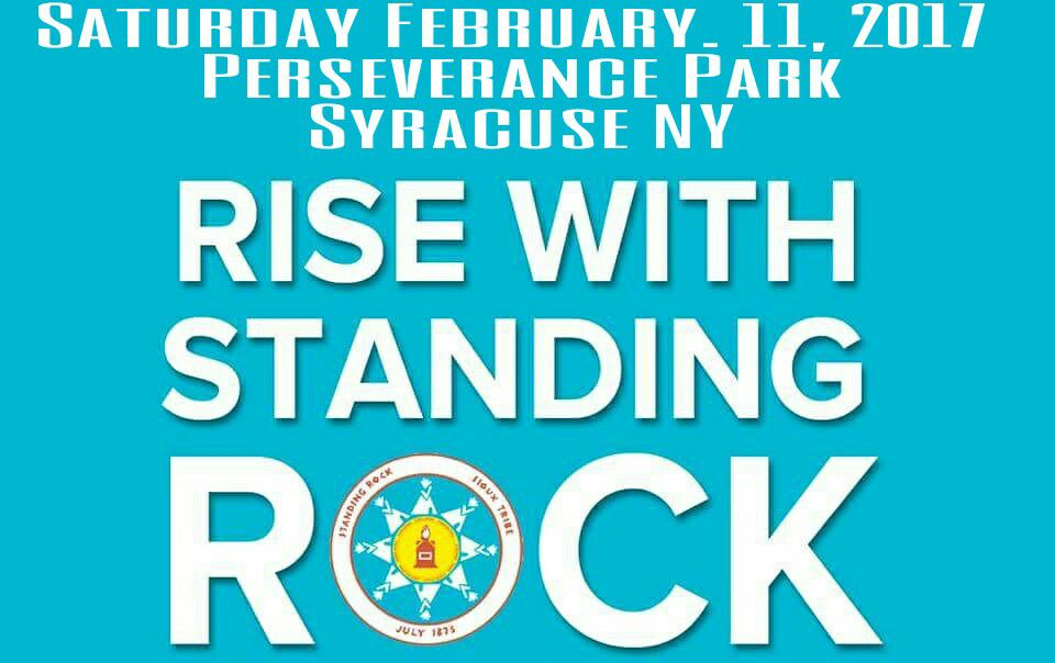 Rise with Standing Rock protest flyer