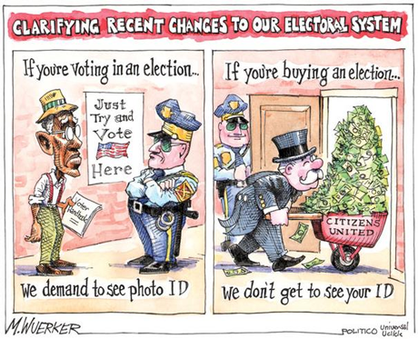 Voter ID political cartoon