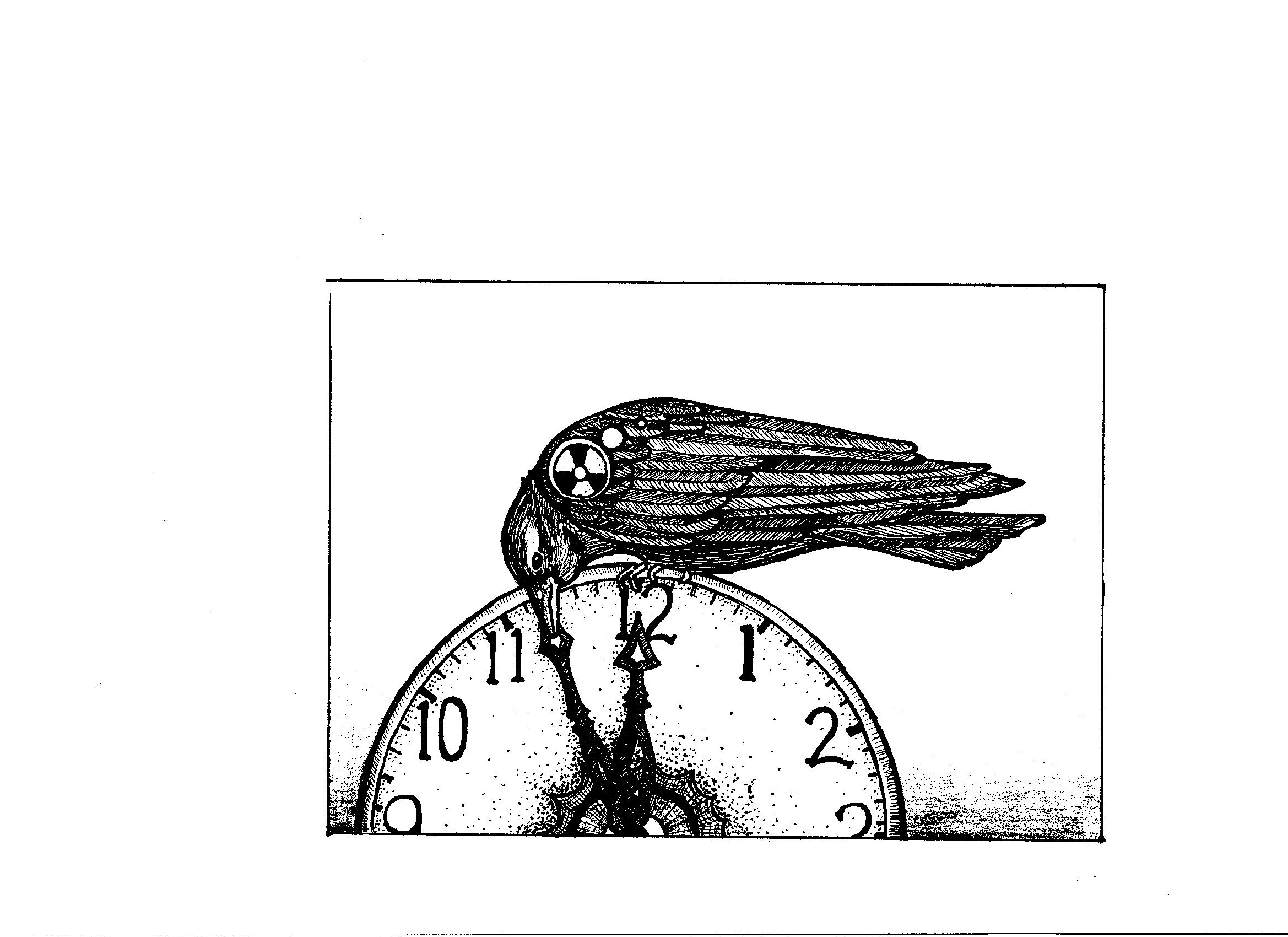 Bird on Doomsday clock