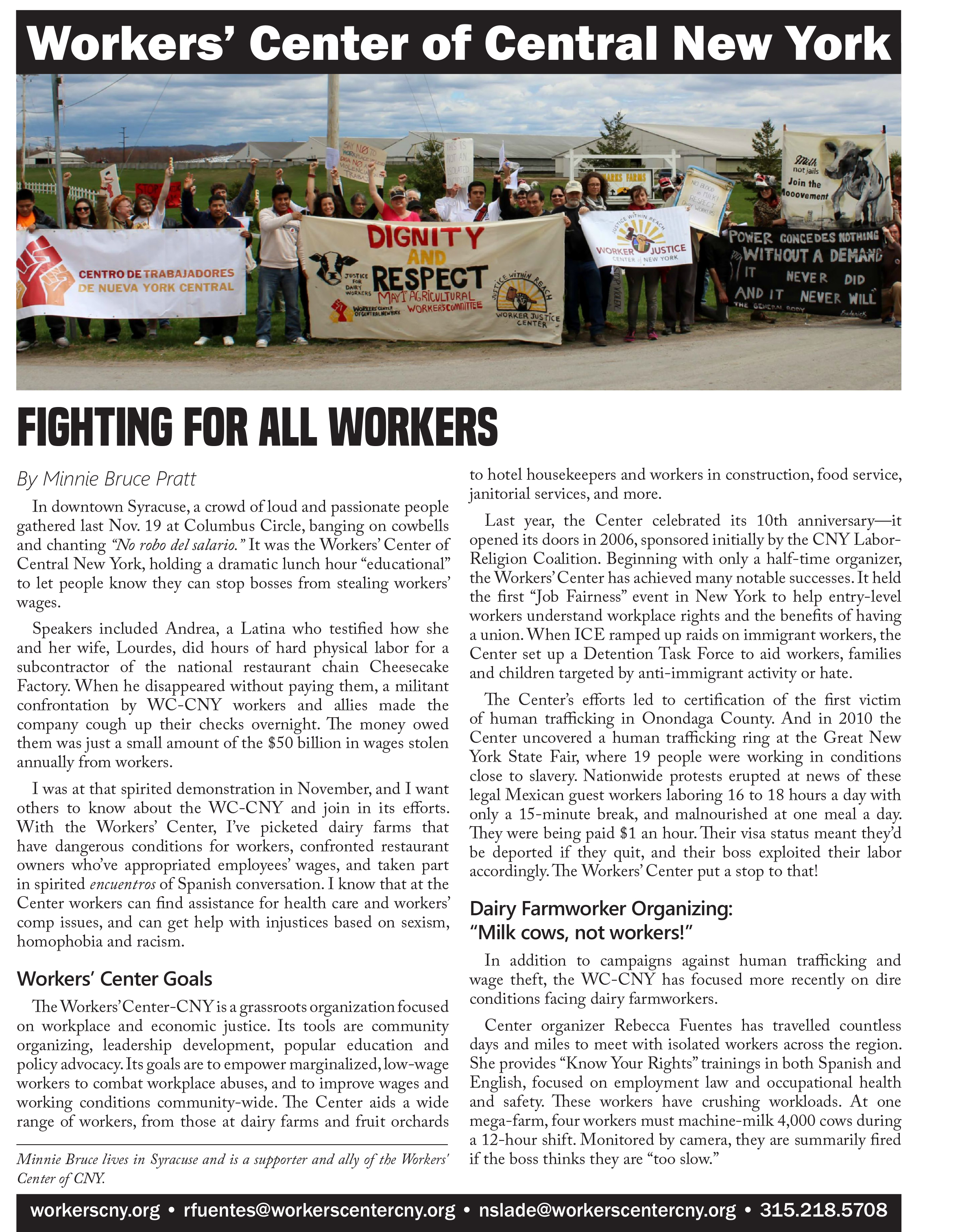 Workers Center Special Section cover image